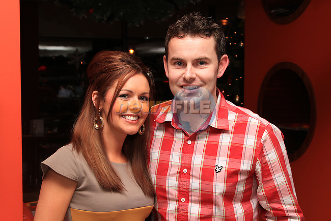 Mandy McKenna, who celebrated her 30th Birthday in Bru, with Andrew Everitt..Picture: Shane Maguire / www.newsfile.ie.