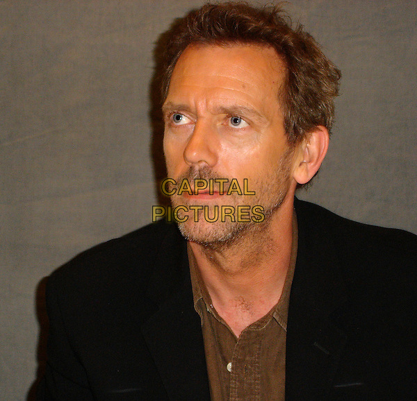 HUGH LAURIE .Photocall at the Peninsula Hotel in Beverly Hills, USA. October 6th, 2006 .Ref: AW .headshot portrait stubble beard. oprowww.capitalpictures.com.sales@capitalpictures.com.©Anita Weber/Capital Pictures.