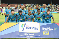 MONTERÍA- COLOMBIA, 24-02-2020:Jugadores de Jaguares de Córdoba posan para una foto previo al partido entre Jaguares de Córdoba  y Alianza Petrolera por la fecha 6 de la Liga BetPlay I 2020 jugado en el estadio Jaraguay Municipal de la ciudad de Montería. / Players of Jaguares of Cordoba  pose to a photo prior match between Jaguares of Cordoba  and Alianza Petrolera  for the date 6 as part of BetPlay League I 2020 played at Jaraguay Municipal stadium in Monteria. Photo: VizzorImage / Andrés Felipe López / Cont /