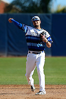 Giuseppe Papaccio #2 of the Seton Hall Pirates during a baseball game against the Pepperdine Waves at Eddy D. Field Stadium on March 8, 2013 in Malibu, California. (Larry Goren/Four Seam Images)