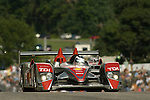 09 August 2008: The Audi Sport North America Audi R10 TDI, driven by Lucas Luhr (DEU), at the Generac 500  at Road America, Elkhart Lake, Wisconsin, USA.