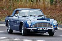 Pictured: Prince Charles arrives in his 1960 Aston Martin DB6. Friday 21 February 2020<br /> Re: HRH Prince Charles visits the Aston Martin Lagonda factory in St Athan, south Wales, UK.