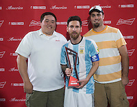 Foxborough, MA - Saturday June 18, 2016: Lionel Messi during a Copa America Centenario quarterfinal match between Argentina (ARG) and Venezuela (VEN)  at Gillette Stadium.