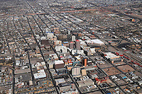 Aerial view of downtown Albuquerque, New Mexico