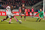 08.02.2019, RheinEnergieStadion, Koeln, GER, 2. FBL, 1.FC Koeln vs. FC St. Pauli,<br />  <br /> DFL regulations prohibit any use of photographs as image sequences and/or quasi-video<br /> <br /> im Bild / picture shows: <br /> Torchance fuer Jhon Córdoba (FC Koeln #15),   gegen Christopher Avevor (St Pauli #6),  im Tor Svend Brodersen (St Pauli #33), <br /> <br /> Foto © nordphoto / Meuter