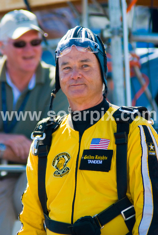 **ALL ROUND PICTURES FROM SOLARPIX.COM**.**SYNDICATION RIGHTS FOR UK, SPAIN, PORTUGAL, AUSTRALIA, S.AFRICA & DUBAI (U.A.E) ONLY**.Bill Murray Jumps Tandem With The Golden Knights To Kick Off The 50th Annual Chicago Air And Water Show, Chicago, Illinois, USA on August 15, 2008..This pic: Bill Murray..JOB REF: 7044 PHZ/Adam Bielawski   .DATE: 15_08_2008.**MUST CREDIT SOLARPIX.COM OR DOUBLE FEE WILL BE CHARGED* *UNDER NO CIRCUMSTANCES IS THIS IMAGE TO BE REPRODUCED FOR ANY ONLINE EDITION WITHOUT PRIOR PERMISSION*