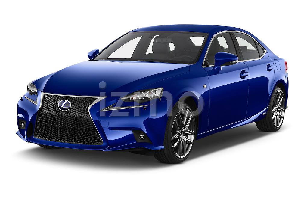 2015 Lexus IS F SPORT LINE 4 Door Sedan Angular Front stock photos of front three quarter view