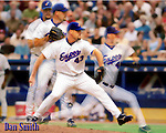 13 August 2002: MLB Pitcher Dan Smith in Action. Mandatory Credit: Ed Wolfstein Photo