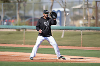 Chicago White Sox first baseman Jose Abreu (79) during Spring Training Camp on February 25, 2018 at Camelback Ranch in Glendale, Arizona. (Zachary Lucy/Four Seam Images)