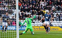 Blackburn Rovers' Sam Gallagher scores his side's second goal <br /> <br /> Photographer Alex Dodd/CameraSport<br /> <br /> The EFL Sky Bet Championship - Preston North End v Blackburn Rovers - Saturday 26th October 2019 - Deepdale Stadium - Preston<br /> <br /> World Copyright © 2019 CameraSport. All rights reserved. 43 Linden Ave. Countesthorpe. Leicester. England. LE8 5PG - Tel: +44 (0) 116 277 4147 - admin@camerasport.com - www.camerasport.com