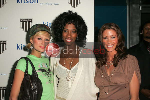 Paris Hilton with Shondrella Avery and Shannon Elizabeth<br />