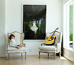 Alan Faena, partner Ximena and family, including son Noa, have adorned their rental home on Miami Beach with signature touches.