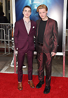 WESTWOOD, CA - APRIL 11: Isaac Kragten (L) and Jordan Kronis attend the premiere of 20th Century Fox's 'Breakthrough' at Westwood Regency Theater on April 11, 2019 in Los Angeles, California.<br /> CAP/ROT/TM<br /> &copy;TM/ROT/Capital Pictures
