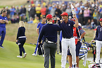 Bryson Dechambeau (Team USA) during the singles matches at the Ryder Cup, Le Golf National, Ile-de-France, France. 30/09/2018.<br /> Picture Fran Caffrey / Golffile.ie<br /> <br /> All photo usage must carry mandatory copyright credit (&copy; Golffile | Fran Caffrey)