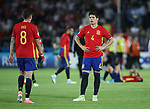 Spain's Jorge Mere looks on dejected at the final whistle during the UEFA Under 21 Final at the Stadion Cracovia in Krakow. Picture date 30th June 2017. Picture credit should read: David Klein/Sportimage