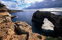 Spanien, Mallorca, Fels Es Pontas bei Cala Santanyi