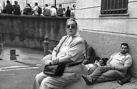 Genova 19 Luglio 2001.G8.La manifestazione dei migranti.Ebe Bonafini Madre de plaza de mayo