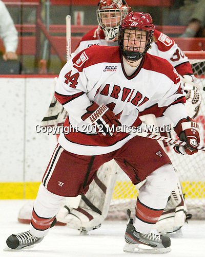 Max Everson (Harvard - 44) - The Harvard University Crimson defeated the visiting Yale University Bulldogs 8-2 in the third game of their ECAC Quarterfinal matchup on Sunday, March 11, 2012, at Bright Hockey Center in Cambridge, Massachusetts.