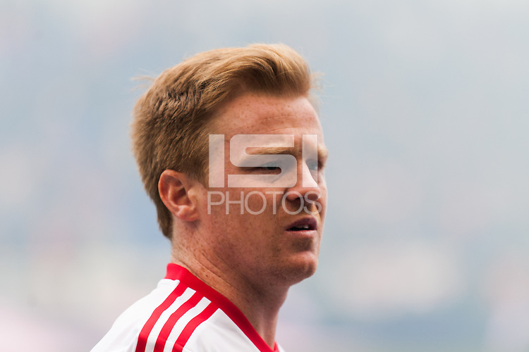 Dax McCarty (11) of the New York Red Bulls. The New York Red Bulls and D. C. United played to a 0-0 tie during a Major League Soccer (MLS) match at Red Bull Arena in Harrison, NJ, on March 16, 2013.