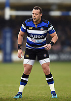 Michael van Vuuren of Bath Rugby looks on. Anglo-Welsh Cup match, between Bath Rugby and Newcastle Falcons on January 27, 2018 at the Recreation Ground in Bath, England. Photo by: Patrick Khachfe / Onside Images