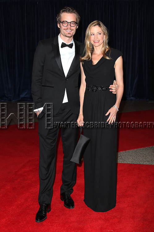 Chistopher Backus and Mira Sorvino .attending the White House Correspondents' Association (WHCA) dinner at the Washington Hilton Hotel in Washington, D.C..