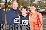 FAMILY RUN: Member's of the Kennelly family taking part in the Mini-Marathon in aid of the Kerry Careers Association at the Brandon hotel, Tralee on Sunday l-r: Brendan, Daire and Veronica Kennelly.