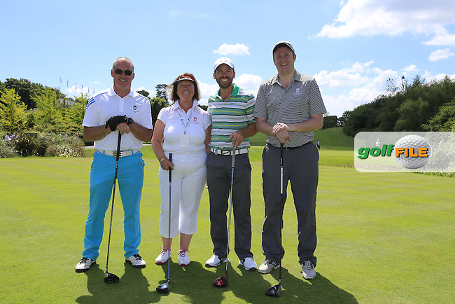 Paul Casey (ENG) team during Wednesday's Pro-Am of the 2014 Irish Open held at Fota Island Resort, Cork, Ireland. 18th June 2014.<br /> Picture: Eoin Clarke www.golffile.ie