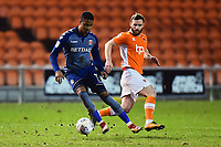 Charlton Athletic's Ezri Konsa competes with Blackpool's Jimmy Ryan<br /> <br /> Photographer Richard Martin-Roberts/CameraSport<br /> <br /> The EFL Sky Bet League One - Blackpool v Charlton Athletic - Tuesday 13th March 2018 - Bloomfield Road - Blackpool<br /> <br /> World Copyright &not;&copy; 2018 CameraSport. All rights reserved. 43 Linden Ave. Countesthorpe. Leicester. England. LE8 5PG - Tel: +44 (0) 116 277 4147 - admin@camerasport.com - www.camerasport.com