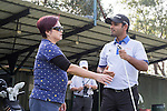 Chiragh Kumar of India gives a golf clinic during the 58th UBS Hong Kong Golf Open as part of the European Tour on 08 December 2016, at the Hong Kong Golf Club, Fanling, Hong Kong, China. Photo by Vivek Prakash / Power Sport Images