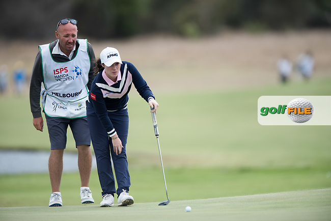 Leona Maguire (IRL) during the 2nd round of the VIC Open, 13th Beech, Barwon Heads, Victoria, Australia. 08/02/2019.<br /> Picture Anthony Powter / Golffile.ie<br /> <br /> All photo usage must carry mandatory copyright credit (&copy; Golffile | Anthony Powter)