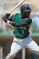 Augusta second baseman Marcus Sanders (2) at bat versus Kannapolis at Fieldcrest Cannon Stadium in Kannapolis, NC, Wednesday, May 2, 2007.