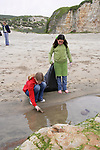 Kaya & Trillium On Beach Cleanup