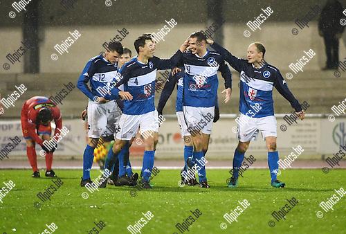 2016-11-12 / Voetbal / Seizoen 2016-2017 / FC Turnhout - Wellen / Jelle Schijvenaars scoorde de 3-0<br /> <br /> ,Foto: Mpics.be