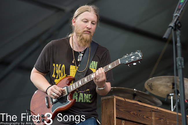 Derek Trucks of Tedeschi Trucks Band performs during the 2015 New Orleans Jazz & Heritage Festival in New Orleans, Louisiana.