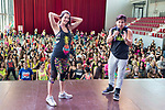 Malena Costa and Beto Perez dancing during the presentation of Zumba Academy at Momo Caja Magica in Madrid, Spain. March 19, 2017. (ALTERPHOTOS/BorjaB.Hojas)