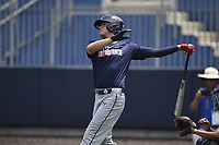 TEMPORARY UNEDITED FILE:  Image may appear lighter/darker than final edit - all images cropped to best fit print size.  <br /> <br /> Under Armour All-American Game presented by Baseball Factory on July 19, 2018 at Les Miller Field at Curtis Granderson Stadium in Chicago, Illinois.  (Mike Janes/Four Seam Images) Jud Fabian is an outfielder from Trinity Catholic High School in Ocala, Florida committed to Florida.