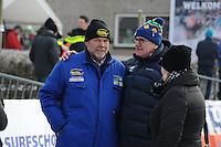 SCHAATSEN: NOORDLAREN: 18-01-2017, IJsvereniging De Hondsrug, de eerste marathon op natuurijs van 2017, ijsmeester Gezienus van Iren, ©foto Martin de Jong