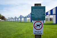 Henley on Thames. United Kingdom.   2018 Henley Royal Regatta, Henley Reach. <br />   <br /> Signage, in front of the boat tent area. Course Construction<br /> <br /> Thursday  03/05/2018<br /> <br /> [Mandatory Credit: Peter SPURRIER:Intersport Images]<br /> <br /> LEICA CAMERA AG  LEICA Q (Typ 116)  f1.8  1/4000sec  35mm  42.1MB