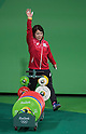 Hiromi Miyake (JPN), AUGUST 6, 2016 - Weightlifting : Hiromi Miyake of Japan prepares before competing in the Women's 48kg during the Rio 2016 Olympic Games at Riocentro Pavilion 2 in Rio de Janeiro, Brazil. (Photo by Enrico Calderoni/AFLO SPORT)