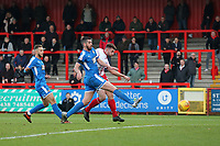 Danny Newton of Stevenage scores the first goal during Stevenage vs Notts County, Sky Bet EFL League 2 Football at the Lamex Stadium on 11th November 2017