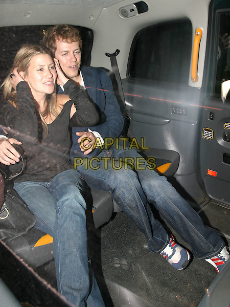 TOM PARKER BOWLES.Fiat Party at Sketch Club.May 11th, 2004.full length, full-length, jeans, denim, arm around, car.www.capitalpictures.com.sales@capitalpictures.com.© Capital Pictures.