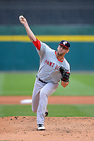 Pawtucket Red Sox starting pitcher Anthony Ranaudo (43) during a game against the Buffalo Bisons on August 4, 2013 at Coca-Cola Field in Buffalo, New York.  Pawtucket defeated Buffalo 8-1.  (Mike Janes/Four Seam Images)