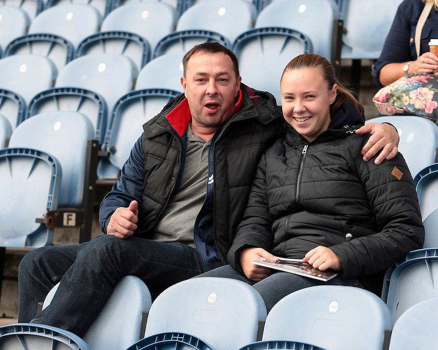 Burnley fans before kick off<br /> <br /> Photographer David Shipman/CameraSport<br /> <br /> Football - The Football League Sky Bet Championship - Burnley v Reading - Saturday 26th September 2015 - Turf Moor - Burnley<br /> <br /> &copy; CameraSport - 43 Linden Ave. Countesthorpe. Leicester. England. LE8 5PG - Tel: +44 (0) 116 277 4147 - admin@camerasport.com - www.camerasport.com