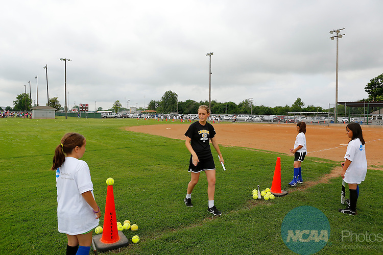 31 MAY 2014:  The 2014 NCAA Youth Softball Clinic takes place at the Putnam City Optimist Complex in Oklahoma City, OK.  Alonzo J. Adams/NCAA Photos