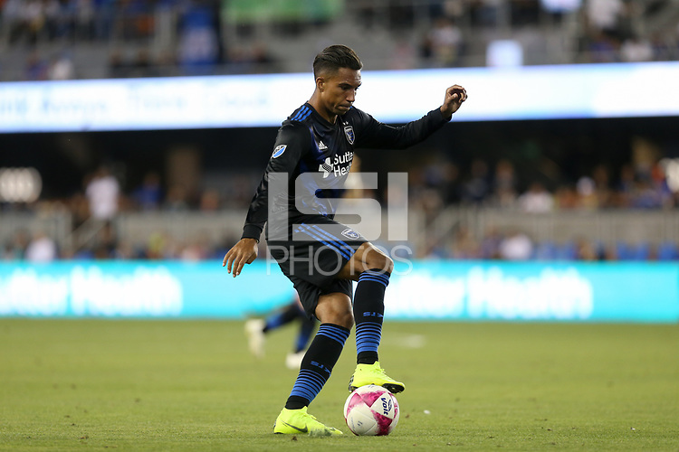 San Jose, CA - Saturday October 13, 2018: Danny Hoesen during a friendly match between the San Jose Earthquakes and Cruz Azul at Avaya Stadium.