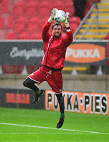 Lincoln City's Josh Vickers during the pre-match warm-up <br /> <br /> Photographer Andrew Vaughan/CameraSport<br /> <br /> The Carabao Cup First Round - Rotherham United v Lincoln City - Tuesday 8th August 2017 - New York Stadium - Rotherham<br />  <br /> World Copyright &copy; 2017 CameraSport. All rights reserved. 43 Linden Ave. Countesthorpe. Leicester. England. LE8 5PG - Tel: +44 (0) 116 277 4147 - admin@camerasport.com - www.camerasport.com