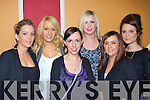 Claire Nelligan, Noelle Brosnan, Margaret Hickey, Elaine Lyons, Pamela Casey and Siobhain Nolan who danced the night away at the Crystal Swing concert in the River Island Hotel Castleisland on Friday night.