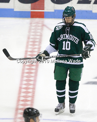 Matt Reber (Dartmouth - 10) - The Yale University Bulldogs defeated the Dartmouth Big Green 7-3 in the Ivy Shootout championship on Saturday, October 30, 2010 at Ingalls Rink in New Haven, Connecticut.