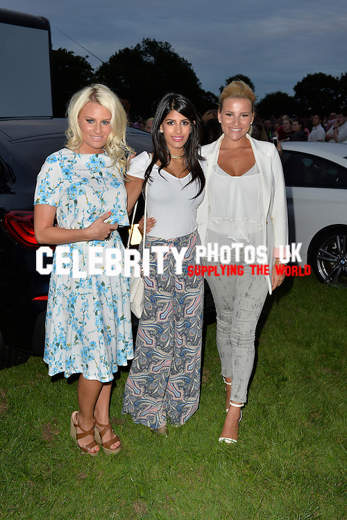 Danielle Armstrong, Jasmin Walia and Georgia Kousoulou attend the Essex Drive in Movies Launch Party in Brentwood, Essex on the 9th August 2014. Photo SimonFord