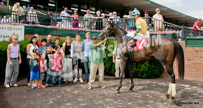 Protection winning at Delaware Park on 7/13/13